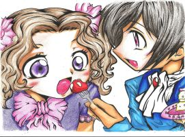Lelouch and Nunnally by xXMadeInHeavenXx