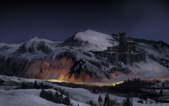Snowy Castle by gerezon