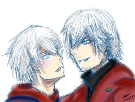 DMC 4: Nero and Dante by iDarkening