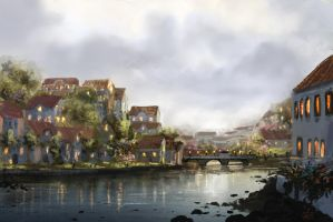 Tavira 2 (WIP Digital Painting) by jjpeabody
