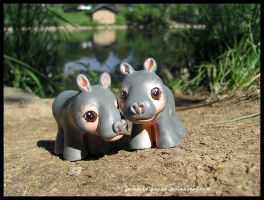 More baby hippos by ImmortalPanda