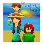 Us at the Beach! [Big Hero 6 AU] by ThePikachuishere
