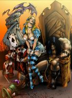 Conan In Wonderland in Color By D.W. Miller by ConceptsByMiller