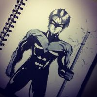 Nightwing by NickKuma
