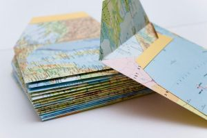 Handmade Map Envelopes by TheTruthSeeker