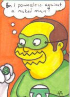 Comic book Guy as Green Lanter by Robomonkey82