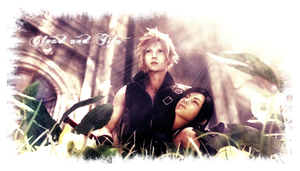 Cloud and Tifa by jackroono