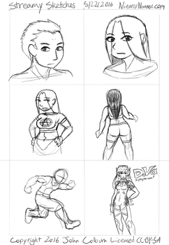 Streamy Sketches 5/22/2016 by JohnColburn