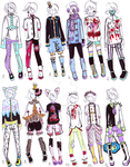 -CLOSED- Pastel goth male clothes by Guppie-Adopts