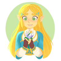 Botw Zelda by sirenami