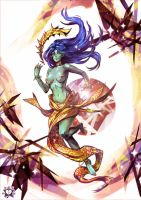Morra, the ancient water goddess by E-X-P-I-E