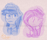 [doodle] Five Nights at Applejack's: Guards by Mewy101