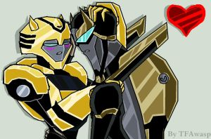 Request-Prowl And Bumblebee by TFAwasp