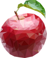 apple low poly by oddkh1