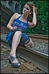 Coppers on the Railroad Tracks by WinterRose4