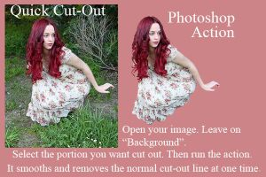 Quick Cut-Out Photoshop Action by marphilhearts