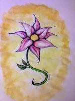 Water colored Flower by torngemini