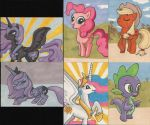 My Little Pony sketchcards 2 by angelacapel