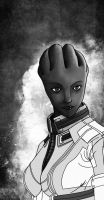 Small sketch of Liara by TrepaShikamaru