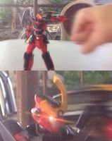 I tried punching my figure..... by KaizerLagann1987