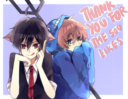 thank you by anisakichi