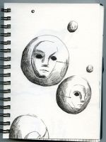 planet of masks by ASYLUMSEVENTY7