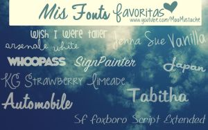 Mis Fonts favoritas! by MaayMustache