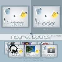 magnet board Icons by Stylenatic