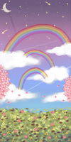 Rainbow clouds - Custom box background (free) by serajaa