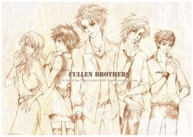 Twilight : Cullen Brothers by mrsloth