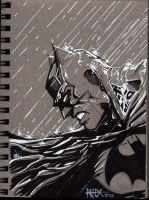 Batman (tri-tone) by rhixart