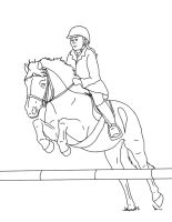 Horse and rider lines 03 by EquineRibbon