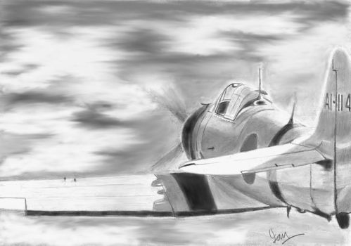 Zero on patrol by p40kittyhawk