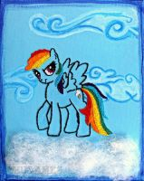 Rainbow Dash - 20% Cooler in Embroidery by Chudames