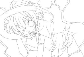 Halloween lineart by HiroPonLover