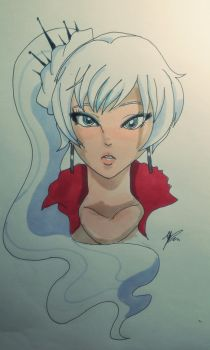 Snow queen rwby by WolffangComics