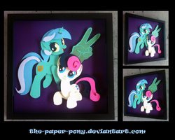 Shadowbox:  Lyra and Bon Bon by The-Paper-Pony
