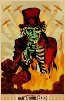 PosterVine Zomie Uncle Sam by Mat Peppler by PosterVine