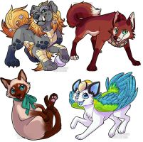 Simple chibi batch by Keshi-Commish