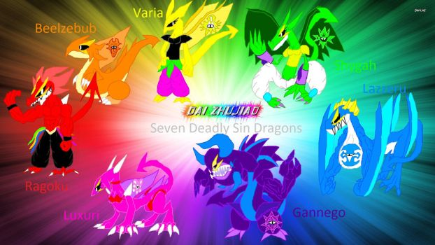 Seven Deadly Sin Dragons by Sonicthepokemonchamp