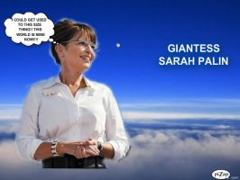 GIANTESS PALIN ABOVE THE CLOUDS by darthbriboy