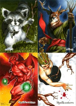 Spellcasters Sketch Cards 01 by RichardCox