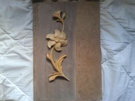 Wood carving  WIP 1 by MazaisEs