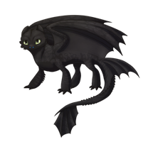 The Alpha furless flying cat of dragons by ICELU