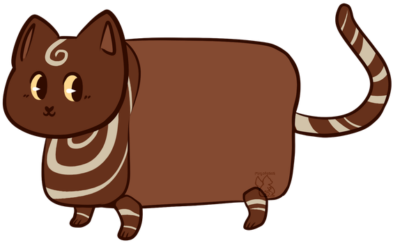 [OPEN] ADOPT: Loaf Cat Marble Rye by MiqotesosAdopts