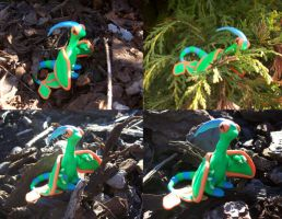 A plasticine shiny flygon by DarkShinyCharizard