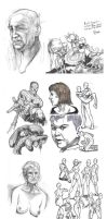 Final 10 pages to my 100 Figure Drawing Assignment by darkspeeds