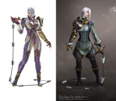 Ivy Valentine redesign by Ancorgil