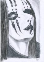 Joey Jordison's mask by Sadly-heartless