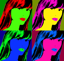 My Graphic Design 1 Exercise 6 - Pop Art Project by Magic-Kristina-KW